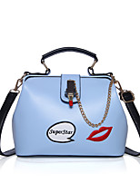 Women Tote PU All Seasons Formal Casual Event/Party Wedding Office & Career Doctor Clasp Lock Blushing Pink Black White Blue