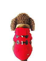 Dog Hoodie Dog Clothes Casual/Daily Solid Gray Red