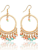 Women's Drop Earrings Jewelry Dangling Style Tassel Circle Fashion Vintage Bohemian Euramerican Elegant Resin Zinc Alloy Plastic Alloy