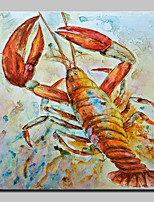 Large Size Hand Painted Crawfish Animal Oil Painting On Canvas Wall Art For Home Decoration No Frame