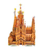 Quebra-cabeças Kit Faça Você Mesmo Quebra-Cabeças 3D Blocos de construção Brinquedos Faça Você Mesmo Construções Famosas Arquitetura