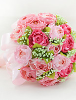 YuXiYing Hemispherical Dew Lotus Wedding Bride Bouquet Large more color