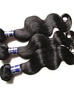 cheap 6a peruvian virgin hair body wave 3bundles 300g lot 100% peruvian human hair weaves natural black color