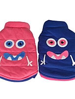 Dog Vest Dog Clothes Casual/Daily Cartoon Blue Blushing Pink