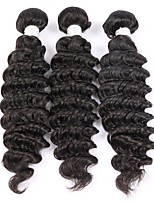 Natural Color Hair Weaves Indian Texture Deep Wave 12 Months Three-piece Suit hair weaves