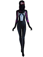 Collants Araignée Cosplay de Film Masque Costume Zentai Halloween Femme Lycra