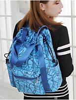 Women Shoulder Bag Oxford Cloth Polyester Nylon All Seasons Casual Outdoor Rectangle Zipper Fuchsia Blue