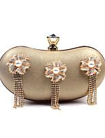 L.WEST Woman Fashion Luxury High-grade Tassel Diamond Flower Evening Bag
