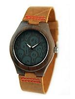 Муж. Модные часы Часы Дерево Японский Кварцевый деревянный PU Натуральная кожа Группа С подвесками Элегантные часы Хаки