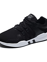 Men's Sneakers Comfort Lycra Breathable Mesh Spring Summer Athletic Casual Outdoor Lace-up White Black Black/White Flat