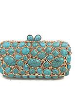Ladies New Designs  Vintage Blue Turquosie Gem Hand Clutches