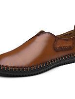 Для мужчин Мокасины и Свитер Удобная обувь Светодиодные подошвы Наппа Leather Кожа Весна Осень Свадьба Повседневные Для вечеринки / ужина