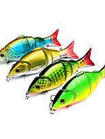 4 pcs Poissons nageur/Leurre dur g/Once mm pouce,Plastique Pêche en mer Autre