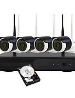 Yanse® 1tb 960p caméra de surveillance sans fil wifi appareil photo nvr kit sécurité système 1.3mp