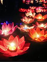 Gift Lotus Wishing Lamp Votive Candle Floating Birthday Candle  Water Lantern Wedding Decoration