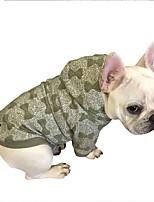 Собака Толстовки Одежда для собак На каждый день Бант Зеленый Синий Розовый