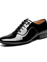 Men's Latin Indoor Patent Leather Heels Professional Black with 4.5cm Heel