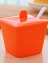 Candy Color Kitchen With A Seasoning Box With A Spoon