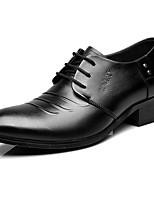 Men's Oxfords Formal Shoes Cowhide Spring Fall Casual Office & Career Formal Shoes Black Under 1in