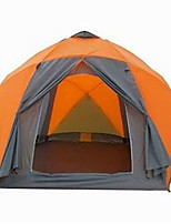 >8 persons Tent Double Fold Tent One Room Camping Tent >3000mm Glass fiber Terylene Waterproof Quick Dry Rain-Proof Foldable-Camping /