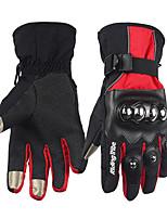 Dedos completos Terciopelo Gasa Fibra de Carbono Guantes motocicletas
