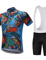 Maglia con salopette corta da ciclismo Per uomo Manica corta Bicicletta Pantaloncini /Cosciali Maglietta Felpa Maglietta/Maglia Top