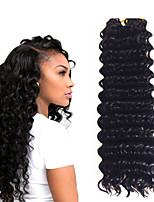 14inch 3 piece a lot 1B Deep Twist Jumbo Hair Extensions Kanekalon Hair Braids 5- 6pack for a head