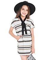 Vestido Chica de Rayas Algodón Sin Mangas Verano
