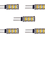 2W LED à Double Broches 26 SMD 2835 145 lm Blanc Chaud Blanc DC 12 V 5 pièces