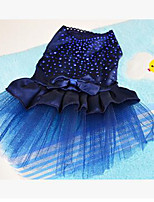 Dog Tuxedo Dog Clothes Party Casual/Daily Solid Blue Ruby