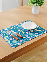 Cartoon Cute Canvas Thick Cotton And Linen Table Placemat 32*45cm