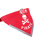 Dog Pirate Skull Bandanas Reflective Collar Cat Triangle Puppy Bibs for Pet