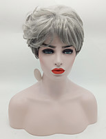 New Wavy Short Women Wigs Synthetic Hair Wig Grey with Dark Roots Ombre hair Wig