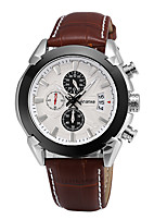 Men's Dress Watch Fashion Watch Japanese Quartz Calendar Genuine Leather Band Casual Black Brown