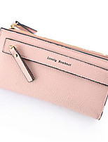 Women Coin Purse PU All Seasons Casual Outdoor Round Zipper Gray Blushing Pink Black