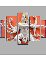 Toile Abstrait,Cinq Panneaux Toile Format Horizontal Imprimé Décoration murale For Décoration d'intérieur