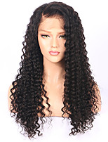 Deep Wave Wigs Brazilian Lace Front Wig With Baby Hair Natural Color Pre Plucked Human Hair Wigs For Black Women