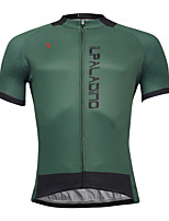 Breathable And Comfortable Paladin Summer Male Short Sleeve Cycling Jerseys DX772Green