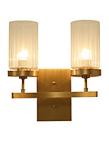 AC110-240 5 E26/E27 Tiffany Simple Traditional/Classic Country Brass Feature for Mini Style Bulb Included,Uplight Wall Sconces Wall Light
