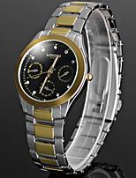 Per uomo Orologio alla moda Creativo unico orologio Cinese Quarzo Metallo Banda Brillanti Nero