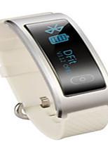 Hombre Reloj Smart Reloj de Moda Digital Resistente al Agua Caucho Banda Negro Blanco Marrón