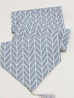 Modern Geometric Gray Cotton Table Flags Northern Europe Simple Tea Table Flags