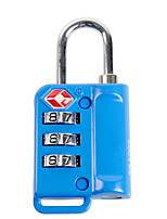 BINHAO 21103 Password Padlock Zinc Alloy 3 Password TSA Customs Lock Abroad Travel Customs Clearance Lock Dail Lock Password Lock