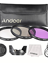 Andoer 55mm Filter Kit (UV CPL FLD)  Nylon Carry Pouch  Lens Cap  Lens Cap Holder  Lens Hood  Lens Cleaning Cloth
