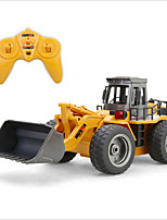 HuiNa Toys 1520 Six Channel 6CH 27HMZ 1/14 RC Metal Bulldozer Charging RC Car RTR Remote Control Toys