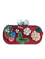 L.WEST Woman Fashion Luxury High-grade The Three-dimensional Flowers Evening Bag
