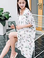 Chemisier Pantalon Costumes Femme,Fleur Imprimé Quotidien Décontracté Décontracté Eté Manches 1/2 Col Arrondi
