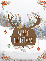 Window Film Window Decals Style Merry Christms Moose Head PVC Window Film