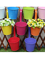 Colored Tin Bucket/Plastic Bucket/Iron Hang Bucket/Balcony Hook Bucket/Hook Vase/Flower Bucket