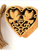 10 Pcs/ Group Wooden Wedding Love Bird Small Hanging Pieces/Wooden Peace Bird Wedding Decoration Ornaments